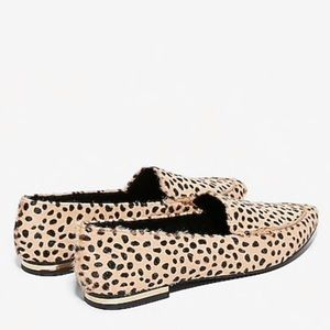 Express Animal Print Lenox Loafers in Neutral NWT